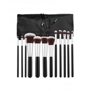 Tools For Beauty Conjunto 12 Pinceis Profissionais Kabuki Preto