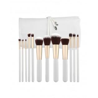 Tools For Beauty Conjunto 12 Pinceis Profissionais Kabuki Branco