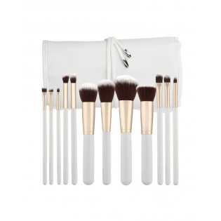 Tools For Beauty Set 12 Kabuki White Professional Brushes