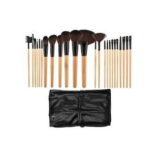Tools For Beauty Conjunto 24 Pincéis Profissionais Madeira  castanho