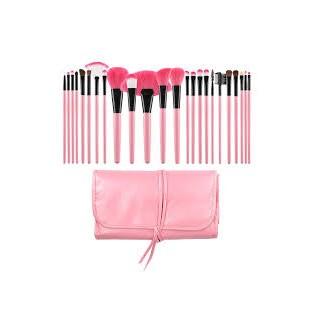 Tools For Beauty Conjunto 24 Pincéis Profissionais Rosa