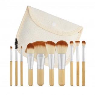 Tools For Beauty Conjunto 10 Pincéis Profissionais Formato viagem