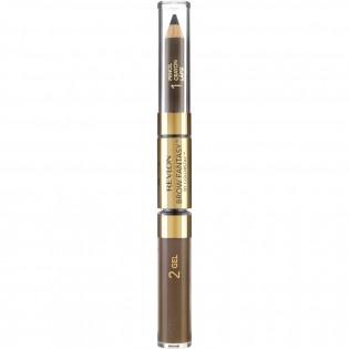 Revlon Brown Fantasie case 3em1 lápis, gel e pincel, de longa duração