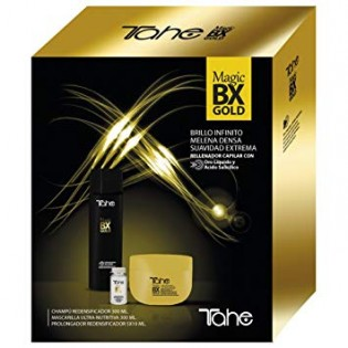 Tahe Magic BX Gold champô300/Mascara 300ml/Tratamento 5X10ML