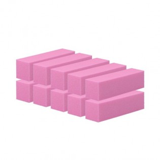 Conjunto de 12 Blocos de limas de unhas Rosa