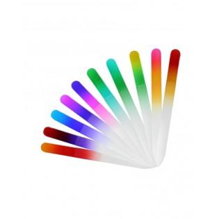 Lima de Unhas em vidro com bolsa de plástico padrão arco iris