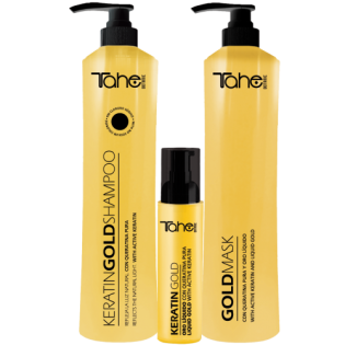 TAHE GOLD PACK 3 PRODUCTS SHAMPOO 800ML MASCARA 800ML+ serum