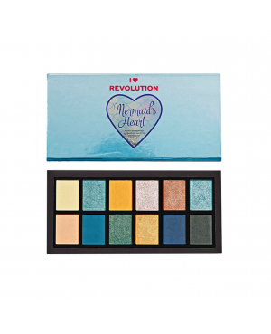 Revolution I Heart Mermaids Heart Eyeshadow Palette