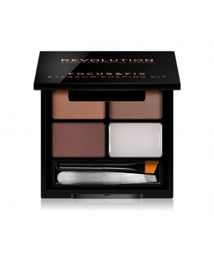 Revolution Focus & Fix Brow Kit - Medium Dark
