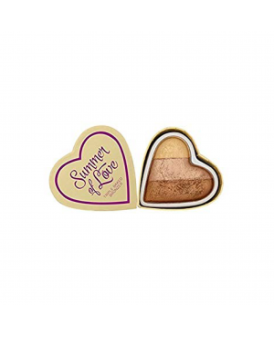 Revolution I Heart Blushing Hearts Bronzer Hot Summer of Love V5