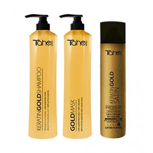 TAHE GOLD PACK 3 SHAMPOO PRODUCTS 800ML+MASCARA 800ML+ LACQUER 400ML