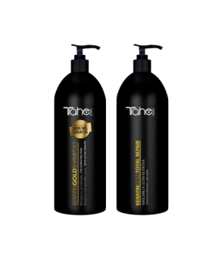 Tahe Magic BX Gold duo Shampoo Gold keratin 1000ml + Máscara keratin gold total repair 1000ml