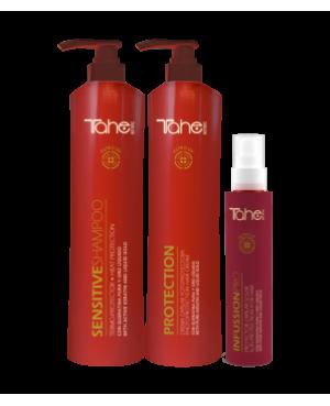Tahe Botanic Solar sensitive  Trio XXL Champo + Creme + Protetor solar