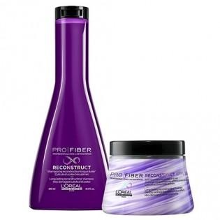 L'Oreal Pro Fiber Reconstruct Duo Shampoo 250ml + Mascara 200ml